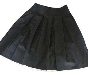Theory Pleated Chiffon Skirt Black