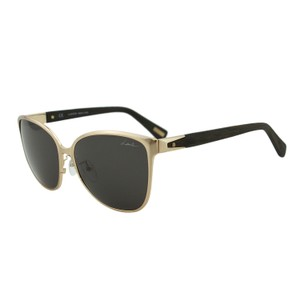 Lanvin NEW Lanvin SLN048 Shiny Gold Metal Wooden Temples Wayfarer Sunglasses