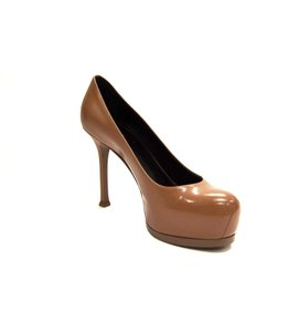 Saint Laurent Ysl Tribtoo Tribute Dust Bag Cognac Pumps