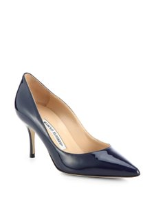 Manolo Blahnik Patent Brand New Navy Pumps