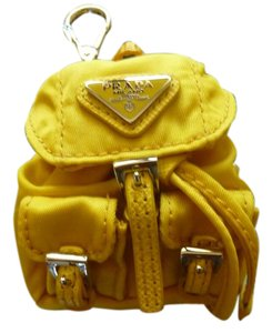 Prada PRADA $280 'Vela' Backpack-Shaped Trick Handbag Charm/Keychain Yellow