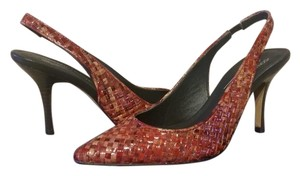 Donald J. Pliner Woven Red Slingback New Skinny Red hues/brown Pumps