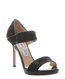 Jimmy Choo Brand New Lace Black Sandals