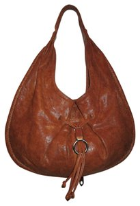 Cole Haan Distressed Leather Hobo Bag