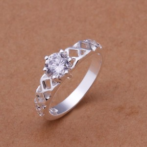 Silver Bogo White Zircon Gold Filled Promise Free Shipping Ring
