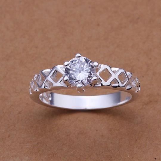 Silver Bogo White Zircon Gold Filled Promise Free Shipping Ring Image 1