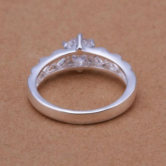 Silver Bogo White Zircon Gold Filled Promise Free Shipping Ring Image 2