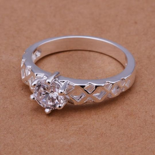 Silver Bogo White Zircon Gold Filled Promise Free Shipping Ring Image 3