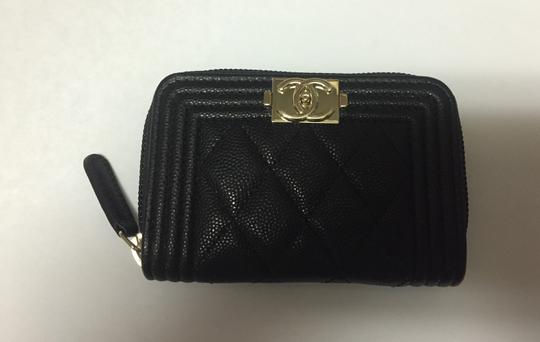 d3e8f4c3550f Chanel Coin Purse 2017. Chanel Black 2017 Caviar Boy Zip Coin Purse Wallet  - Tradesy