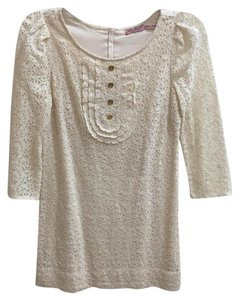 Juicy Couture Lace Shift Short Party Long Sleeve Dress