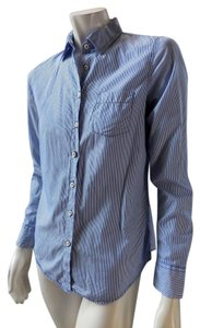 Gap Cotton Oxford Button Front Button Down Shirt Blue