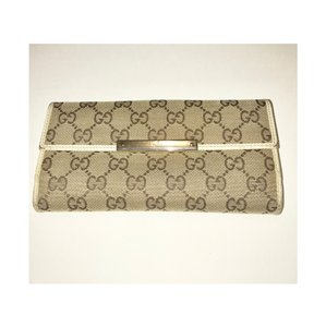 Gucci Monogram GG Canvas & Leather Wallet