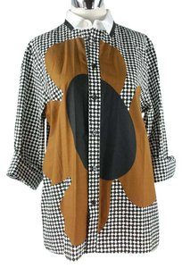Marni Geometric Top Black, White & Brown
