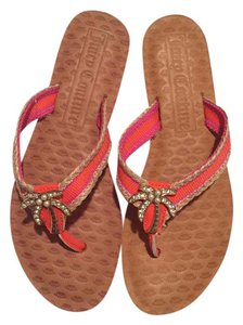 Juicy Couture Pink orange Sandals