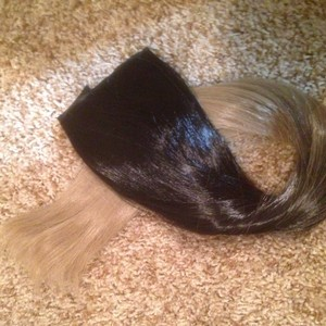 Black To Ash Blonde Hair Extension