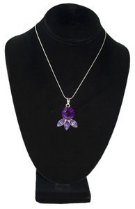 Modcloth Statement Necklace Pendant Sterling Silver Chain