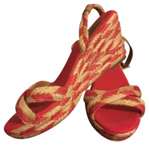 Tory Burch Red Royal Tan Sandals