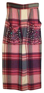 Patches Skirt Plaid: red, green, navy, cream