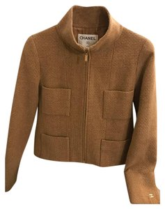 Chanel Cashmere Tweed Vintage Tan Jacket
