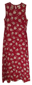 Red Floral Print Maxi Dress by Casual Corner