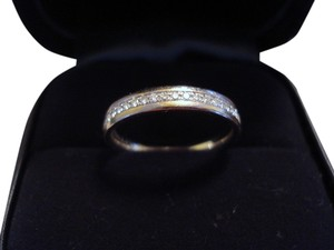 Tiffany & Co. Tiffany & Co Solid 18k 18kt White Gold Metro Diamond Wedding / Anniversary Ring Retail=$2,200