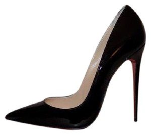 Christian Louboutin Patent Leather Luxury Classic Black Pumps