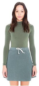 American Apparel Mini Skirt Washed Seaweed