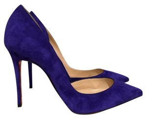 Christian Louboutin Iriza Stiletto Pigalle Suede Heel purple Pumps