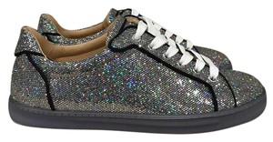 Christian Louboutin Seava Glitter Sneaker Trainer Lace silver Athletic