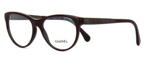Chanel NEW Chanel CH 3333 Burgundy Cat Eye Tweed Eyeglasses Frames