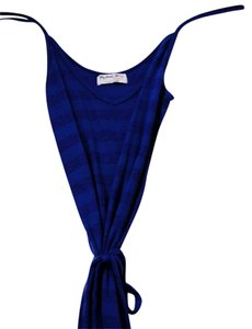 Navy Maxi Dress by Michael Stars Striped V-neck