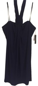 Laundry by Shelli Segal short dress Navy Blue Nwt Halter on Tradesy