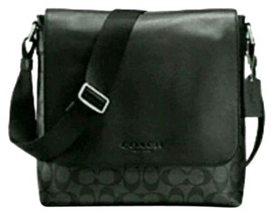 Coach Cross Body Messenger Charles Signature Sullivan Black and smoke grey Messenger Bag