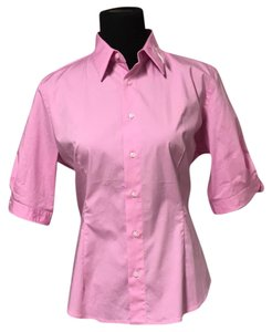 Ralph Lauren Blue Label Collar Stays Button Down Shirt pink