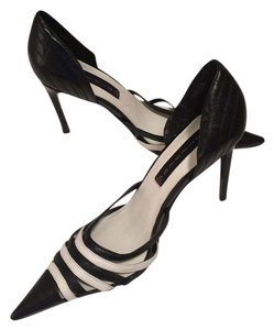 Steven by Steve Madden Black and White Pumps