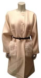 Fendi Mink Wool Felt Belt Coat