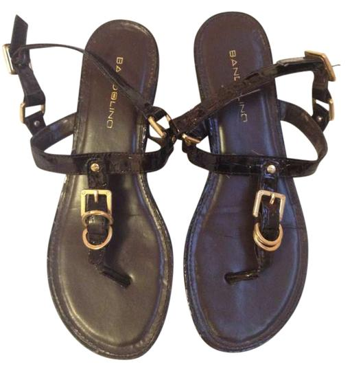 Bandolino Dressy Strap Gold Brown Sandals