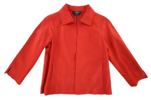 Talbots Linen Petite Summer Spring red Jacket