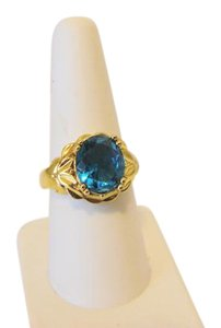 Technibond Technibond Simulated Paraiba Tourmaline Ring Size 8