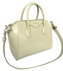 Givenchy Antigona Box Leather Handle Tote in green