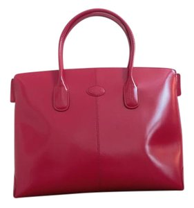 Tod's Leather Tote in Red