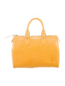 Louis Vuitton Smart With Any Color Clean And Pristine Logo Noticeable Light Weight Tote in Rich Golden Yellow