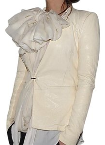 Helmut Lang CREAM Leather Jacket