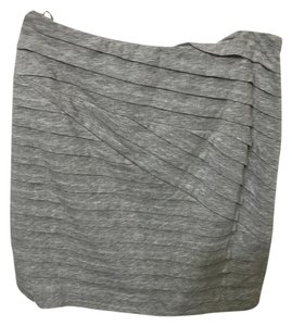 Torn by Ronny Kobo Grey Elastic Waist Soft Mini Skirt Gray