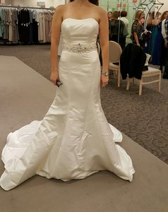 David's Bridal Brand New - Strapless Trumpet Wedding Dress With Ribbon Waist (wg9871) Wedding Dress