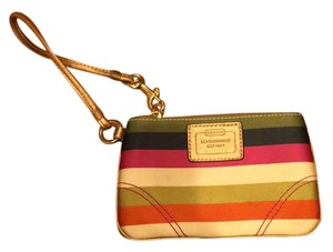 Coach Wristlet in multi stripes