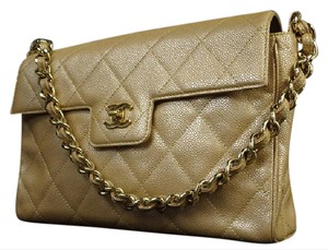 Chanel Classic Flap Ghw Classic Caviar Flap Brown Shoulder Bag