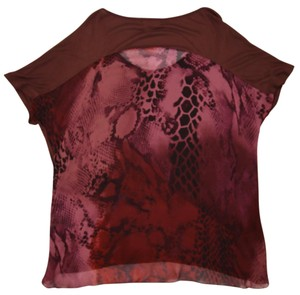 INC International Concepts Burgundy Snakeskin Summer Spring Tunic