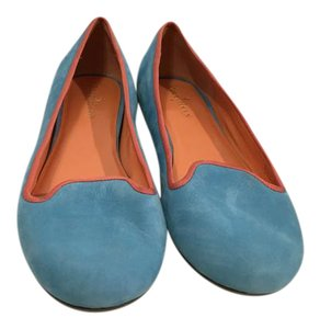 Cole Haan Padded Insoles Turquoise Caribbean Nubuck leather slipper Ballet NikeAIR Flats