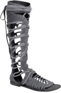 Free People Sun Seeker Tall Gladiator Gray Sandals